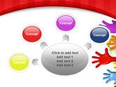 3D Hands Up PowerPoint Template#7