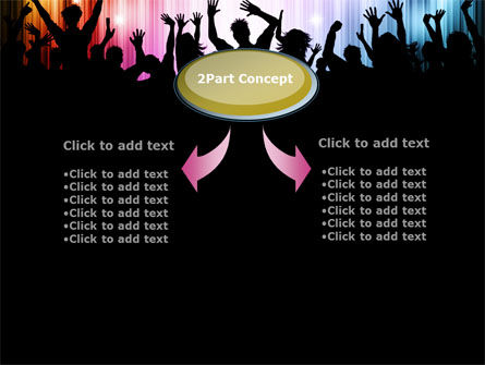 Cheering Crowd PowerPoint Template, Slide 4, 10586, People — PoweredTemplate.com
