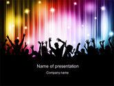 People: Cheering Crowd PowerPoint Template #10586