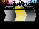 Cheering Crowd PowerPoint Template#16