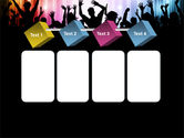 Cheering Crowd PowerPoint Template#18