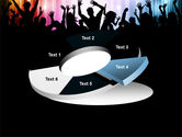 Cheering Crowd PowerPoint Template#19