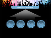 Cheering Crowd PowerPoint Template#8