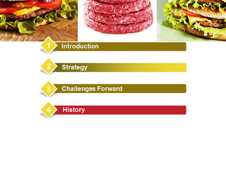 Fast Food Set PowerPoint Template Slide 3
