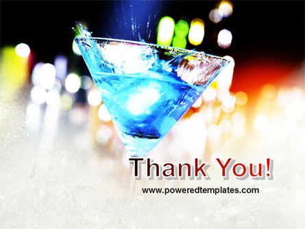 Blue Lagoon Cocktail PowerPoint Template Slide 20