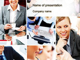 People: Work for a Company PowerPoint Template #10594