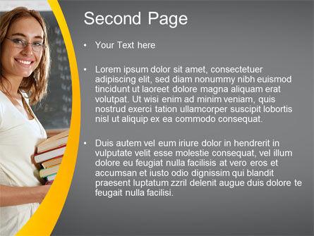 Teacher PowerPoint Template, Slide 2, 10596, People — PoweredTemplate.com