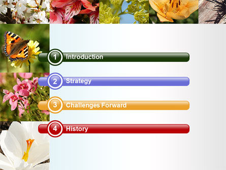 Variety of Flowers PowerPoint Template Slide 3
