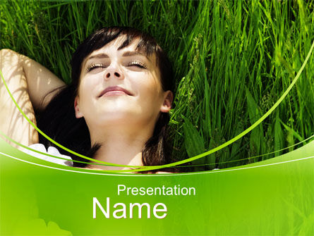Peacefulness PowerPoint Template, 10598, People — PoweredTemplate.com