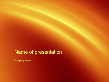 Orange Background PowerPoint Template