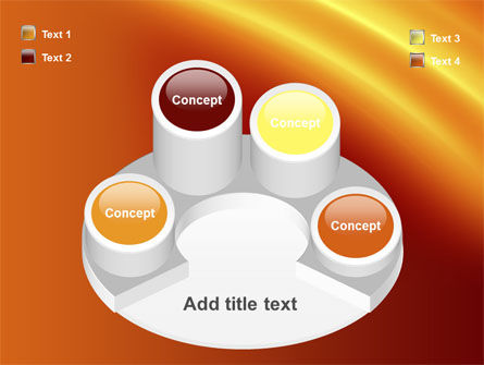 Orange Background PowerPoint Template Slide 12