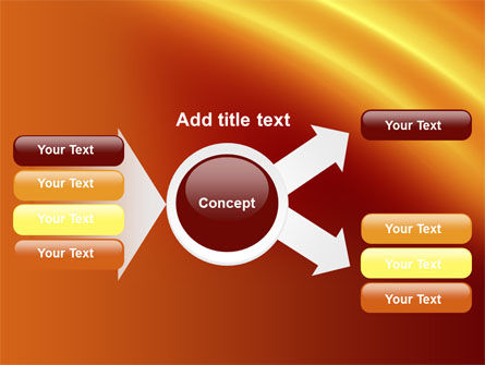 Orange Background PowerPoint Template Slide 14