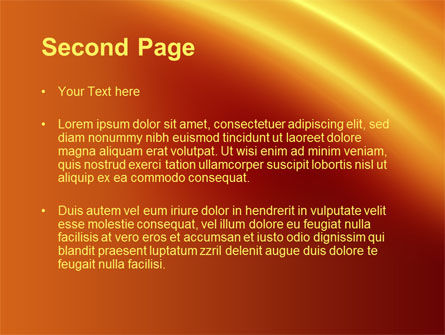 Orange Background PowerPoint Template Slide 2