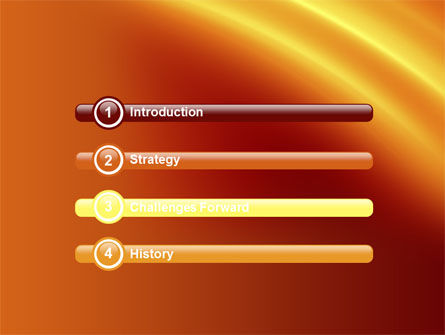 Orange Background PowerPoint Template, Slide 3, 10599, Abstract/Textures — PoweredTemplate.com