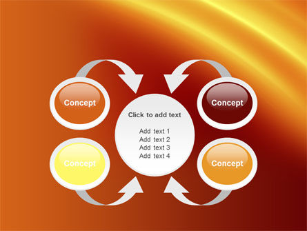 Orange Background PowerPoint Template Slide 6