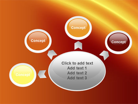 Orange Background PowerPoint Template Slide 7