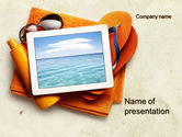 Careers/Industry: Sea Holydays PowerPoint Template #10600