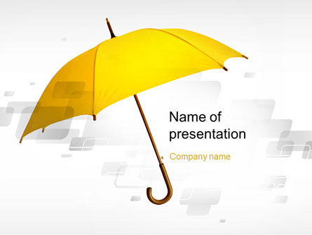 Business Concepts: Yellow Umbrella PowerPoint Template #10602