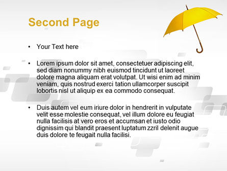 Yellow Umbrella PowerPoint Template Slide 2
