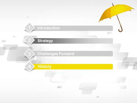 Yellow Umbrella PowerPoint Template Slide 3