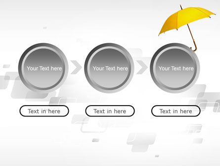 Yellow Umbrella PowerPoint Template Slide 5