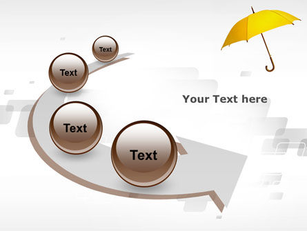 Yellow Umbrella PowerPoint Template Slide 6