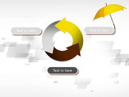 Yellow Umbrella PowerPoint Template Slide 9