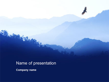 Mountain Silhouettes PowerPoint Template, 10605, Nature & Environment — PoweredTemplate.com