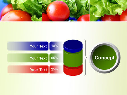 Lettuce and Tomato PowerPoint Template Slide 11