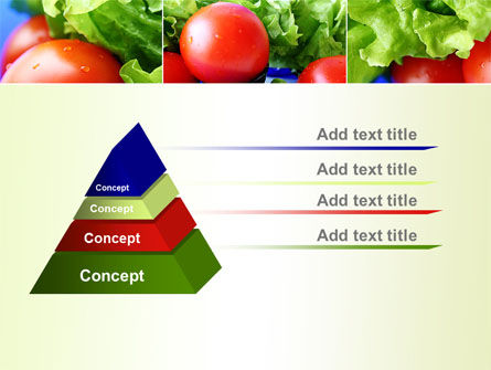 Lettuce and Tomato PowerPoint Template Slide 12