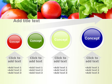 Lettuce and Tomato PowerPoint Template Slide 13