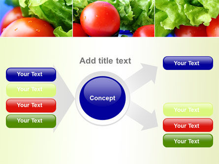 Lettuce and Tomato PowerPoint Template Slide 14