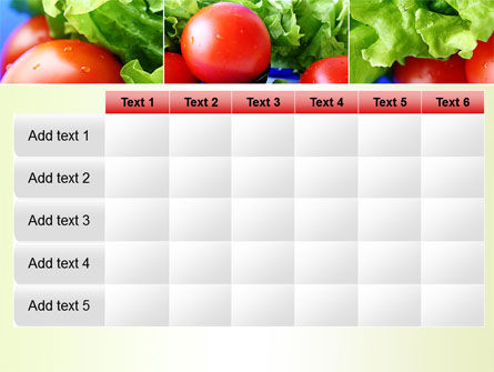 Lettuce and Tomato PowerPoint Template Slide 15