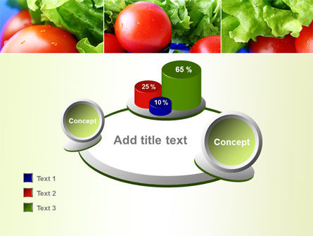 Lettuce and Tomato PowerPoint Template Slide 16