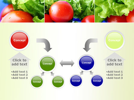 Lettuce and Tomato PowerPoint Template Slide 19