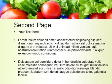 Lettuce and Tomato PowerPoint Template Slide 2