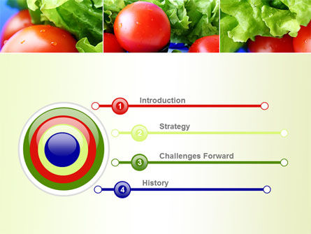 Lettuce and Tomato PowerPoint Template Slide 3