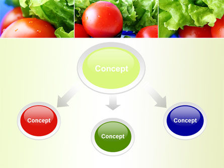 Lettuce and Tomato PowerPoint Template Slide 4
