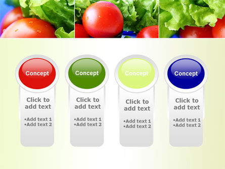 Lettuce and Tomato PowerPoint Template Slide 5