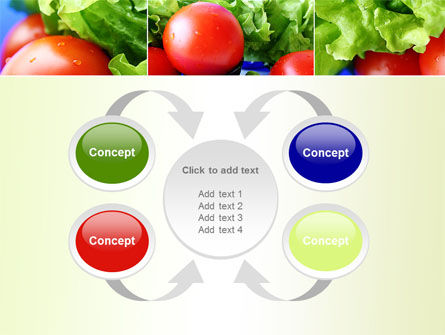Lettuce and Tomato PowerPoint Template Slide 6