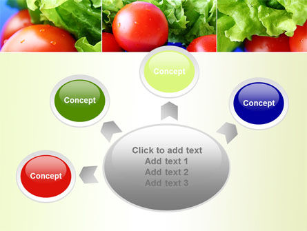 Lettuce and Tomato PowerPoint Template Slide 7