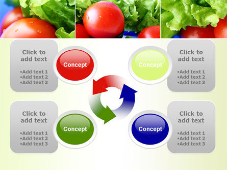 Lettuce and Tomato PowerPoint Template Slide 9