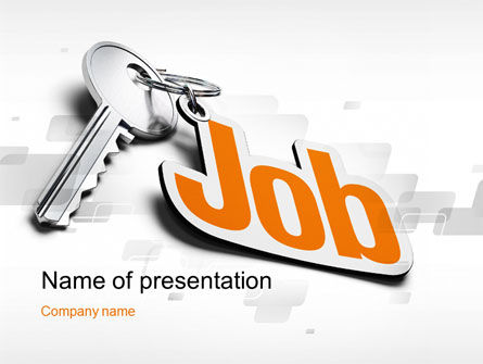 Job Key PowerPoint Template