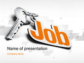 Careers/Industry: Job Key PowerPoint Template #10607