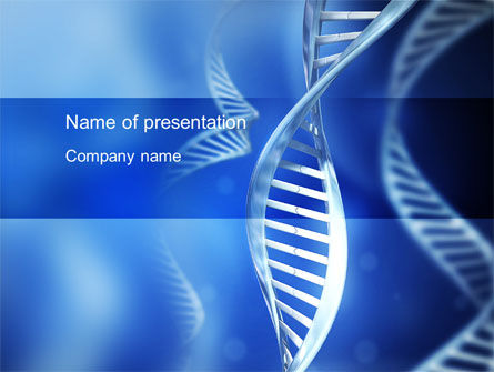 Technology and Science: DNA Theme PowerPoint Template #10609