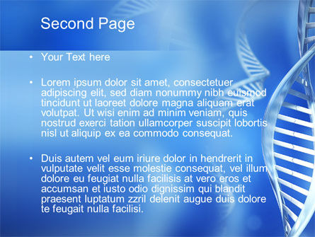DNA Theme PowerPoint Template Slide 2