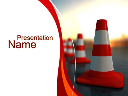 Traffic Pylons PowerPoint Template