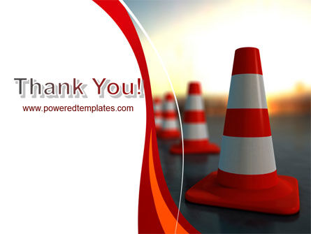 Traffic Pylons PowerPoint Template Slide 20