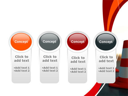 Traffic Pylons PowerPoint Template Slide 5