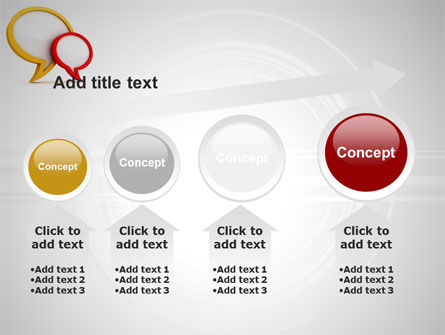 Dialog Bubbles PowerPoint Template Slide 13